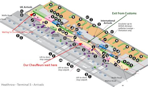 terminal 5 floor plan heathrow airport pickups by city chauffeurs 0203 086
