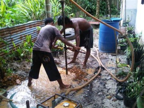 Kunci Pipa Besar proses bor sumur manual mencari sumber air bersih