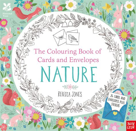 coloring book of cards and envelopes colouring cards and envelopes nature jones