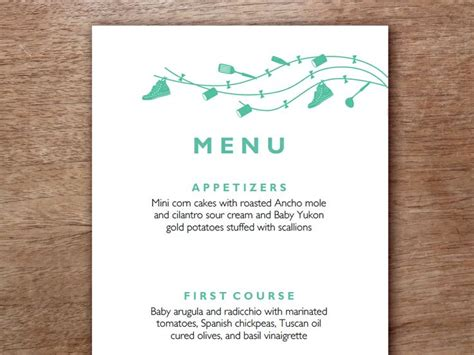 Easily Make Your Own Wedding Menus Just Enter Your Menu Text Print And Cut This Editable Pdf Make Your Own Menu Template Free