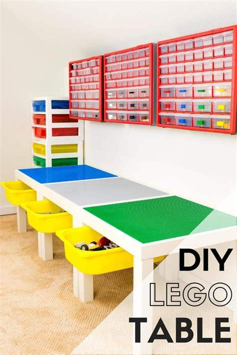lego tutorial room diy lego table with storage diy lego table lego room