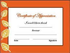thanksgiving certificates