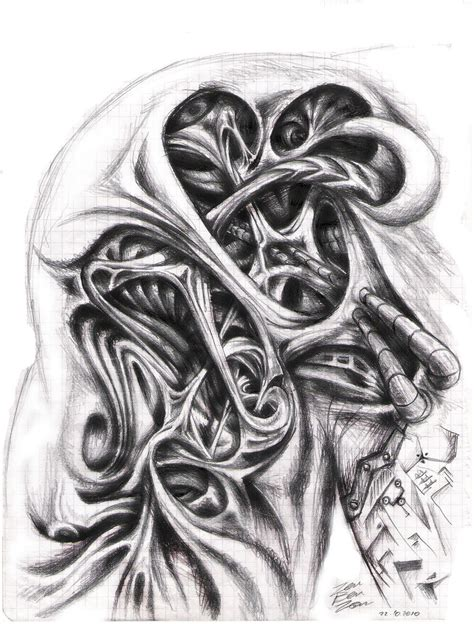 biomechanical shoulder tattoo designs collection of 25 biomechanical design for