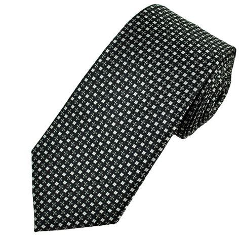 grey pattern tie black silver grey patterned men s tie from ties planet uk
