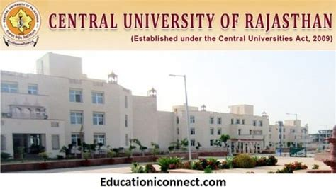 Rajasthan Mba Fees by Central Of Rajasthan Fee Structure 2018 19