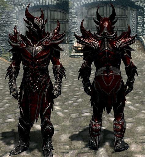 skyrim daedric armor and weapons blood metal daedric armor and weapons now with glowing