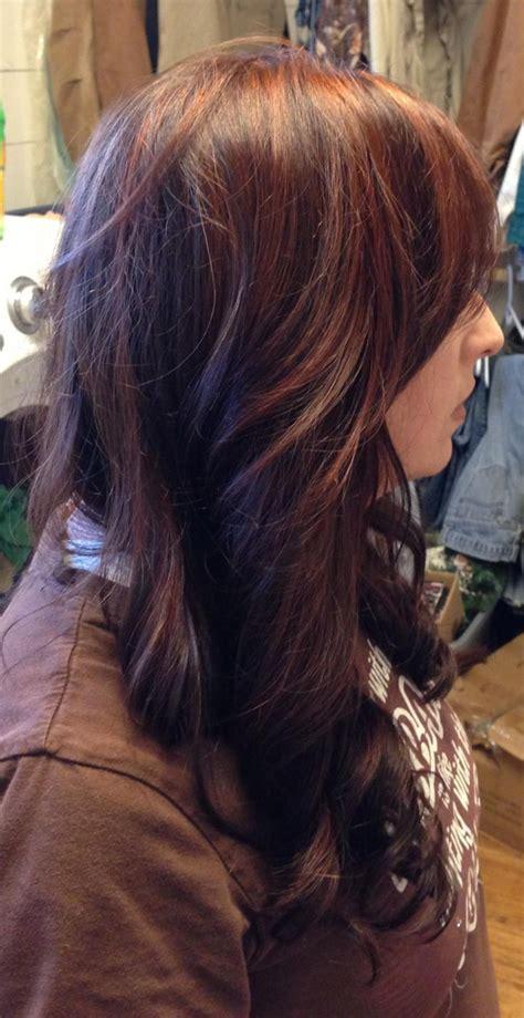 black hair with redish highlights 2014 red brown highlights on dark brown hair hair pinterest