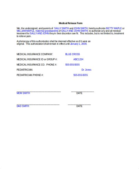 medical release form social security medical release form