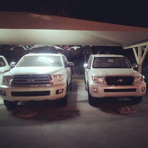Toyota Sequoia Vs Toyota Land Cruiser Sequoia Vs Land Cruiser Size Comparison Clublexus