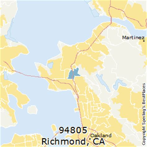 zip code map richmond ca best places to live in richmond zip 94805 california