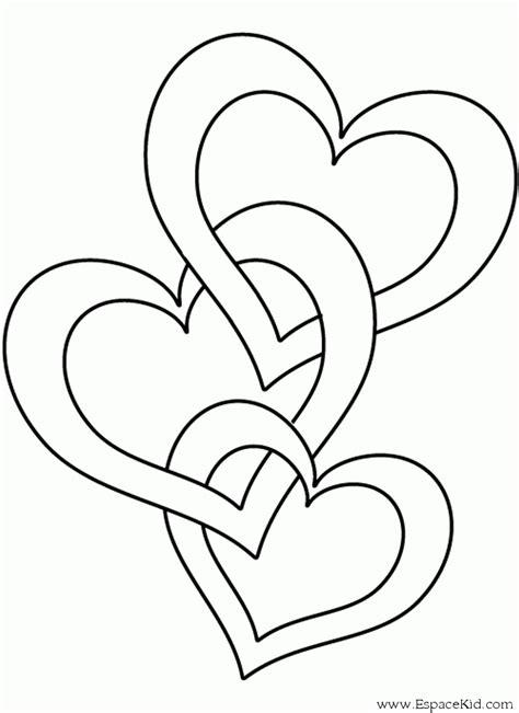 color my hearts coloring book one books coloriage trois coeurs enlac 233 s 224 imprimer dans les