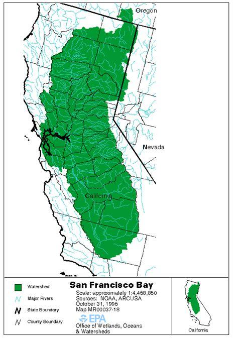 san francisco river map changing landscapes