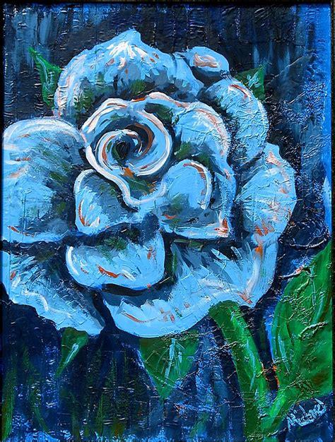 blue verditer signature watercolor paints jms5515 blue quot quot blue rose quot original signed acrylic painting on canvas