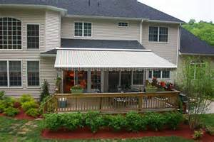 retractable awnings all about gutters and awnings