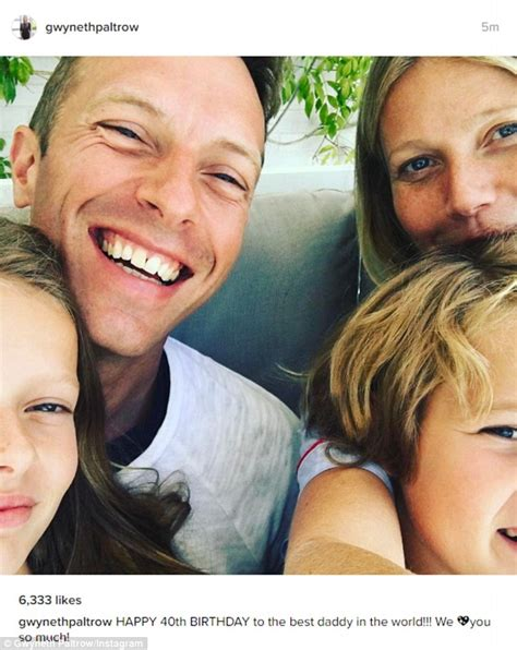 chris martin and gwyneth paltrow gwyneth paltrow posts birthday selfie with ex chris martin