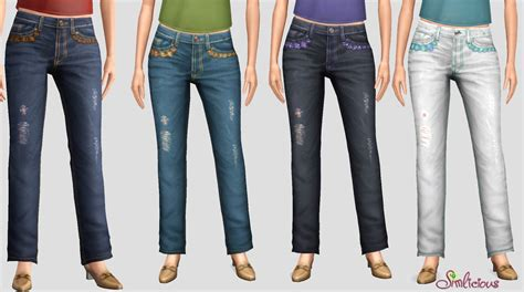 destroyed for comfort mod the sims stylish comfort jeans set for females