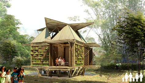 Home Asia by H P Architects Bamboo Homes Float Above Rising Flood