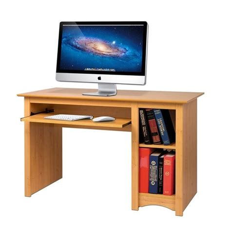 small wood computer desk in maple mdd 2948