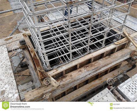 best stock image site column formwork at construction site in malaysia stock