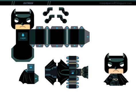Mini Papercraft - batman mini papertoy de gus santome paper toys batman