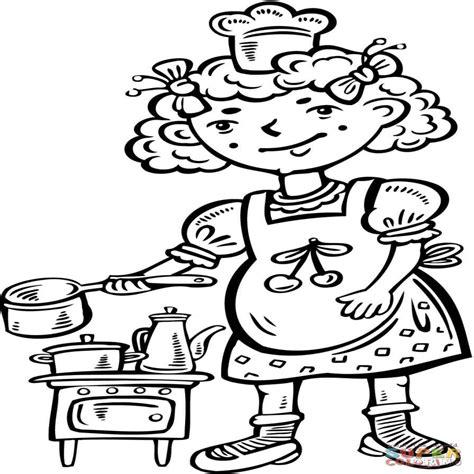 imagenes de otoño para niños dibujo de ni 195 a jugando a los cocineros en la cocina para