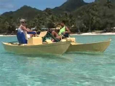 catamaran pedal boat treddlecat a quantum leap in pedal boat power youtube