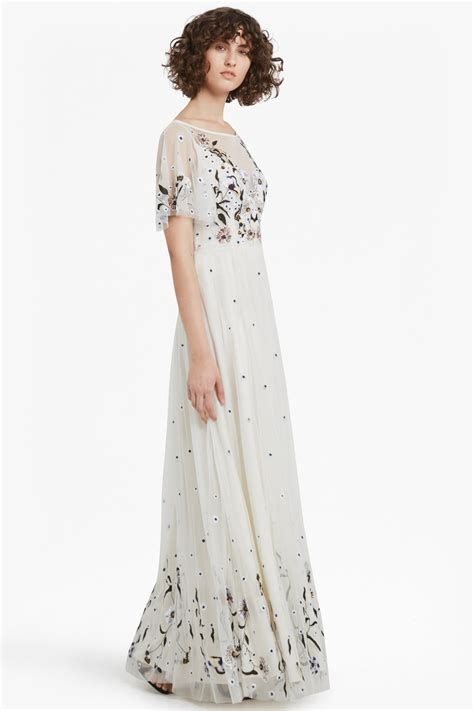 Embroidered Maxi Dress lucille stretch embroidered maxi dress collections