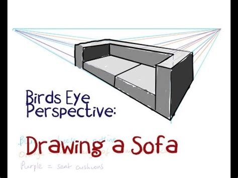 how to a sofa how to draw a sofa by perspective
