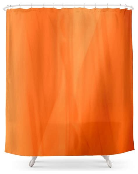 contemporary orange curtains society6 color serie 1 orange shower curtain