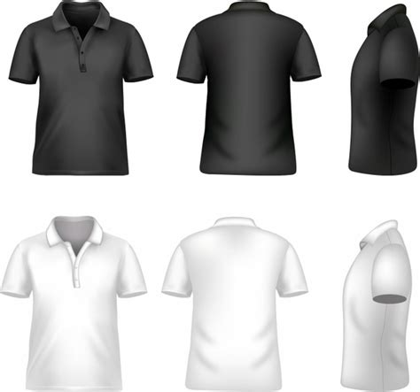 Kaos Class Generik black polo t shirt template blank tshirt 311675