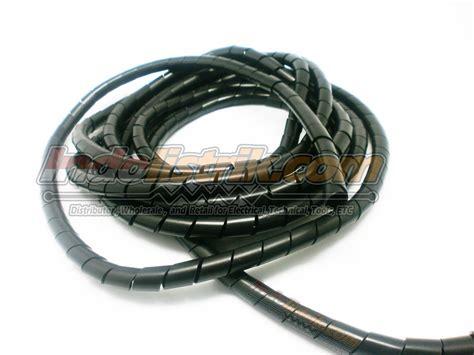 Karet Pelindung Kabel Pembungkus Kabel Power jual pelindung kabel spiral nintoku ks 10 hitam harga murah jakarta oleh pt bannister corporindo