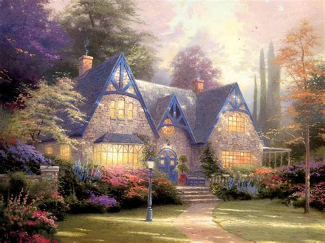 cottage paintings by kinkade kinkade artista pintor de serginho 1956