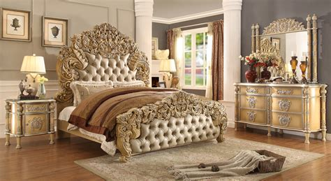 Gold Bedroom Set by Chagne Gold Bedroom Set