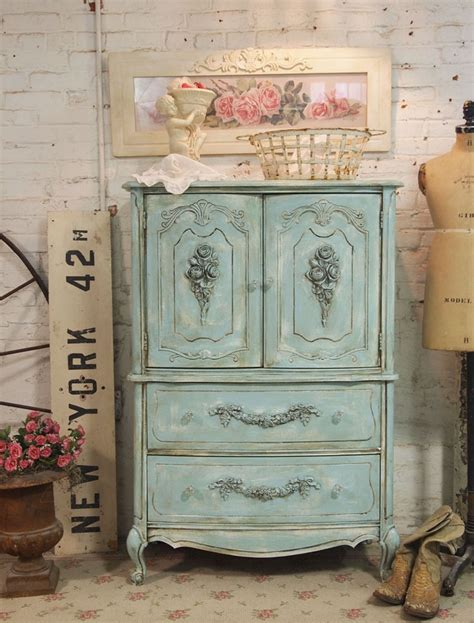 Vintage Cottage Furniture Vintage Blue Painted Cottage Shabby Chic Blue Furniture