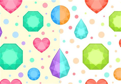 seamless pattern coreldraw design and recolor a flat precious gems seamless pattern