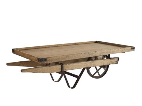 barrow and bench rennes wheel barrow coffee table acacia oak solids and