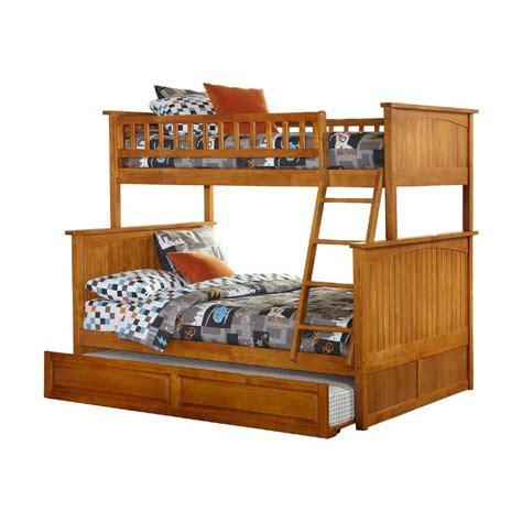 atlantic furniture nantucket carmel latte twin  full bunk bed  lowescom