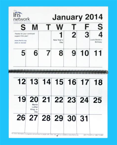 block calendar template big block calendar printable calendar template 2016