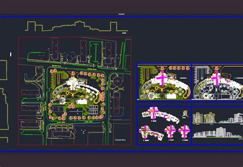 star hotel  gym  pool  dwg design full