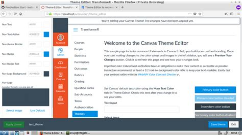 theme editor canvas ruby on rails canvas lms theme editor logos are not