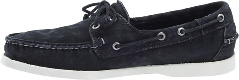 Original Bnwb Sebago Canton Slip On Black new mens sebago black canvas docksides boat shoes b720314 ebay