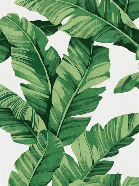 printable leaf art tropical banana leaves art print leaf art banana leaves