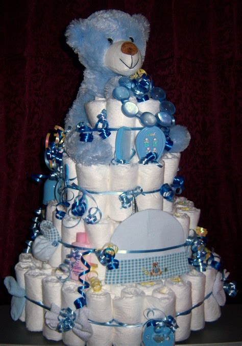 Baby Shower Diaper Cakes For Boys Girls Babiesrus | baby shower bear diaper cake boy girl or by babydiapercakes