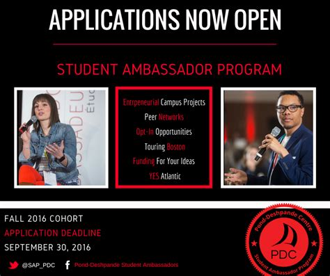 Applications For Programme Now Open by Applications Now Open Student Ambassador Program Nbsprn
