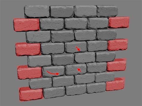 Zbrush Brick Tutorial | brick wall with zbrush udk pinterest zbrush and