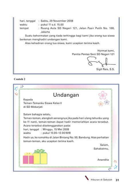 Surat Ulangtahun by Contoh Menulis Surat Undangan Ulang Tahun Dalam Bahasa