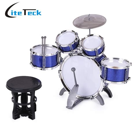 Toddler Drum Set With Stool by New Arrival Children Drum Set 5 Drums With Small