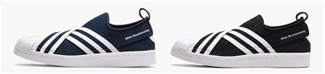 Adidas Superstar Slip On X Mountaineering Original release information of white mountaineering x adidas superstar slip on pack fastsole