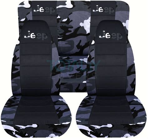 Seat Covers For Jeeps Jeep Wrangler Yj Tj Jk 1987 2017 Camo Black Seat Covers