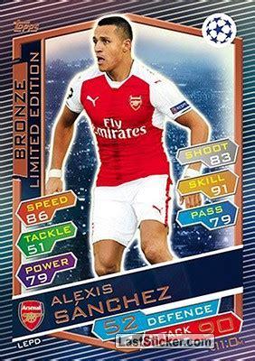 alexis sanchez all cards card lepd alexis sanchez topps uefa chions league